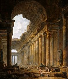 The Old Temple by Hubert Robert, 1788.