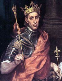 Louis IX by El Greco Louvre, Paris Louis IX of France was revered as a saint and painted in portraiture well after his death (such portraits may not accurately reflect his appearance). This portrait was painted by El Greco c. Catholic Saints, Roman Catholic, St Louis, Luis Ix, Leo Tolstoi, Renaissance, Catholic Online, Marie Antoinette, Middle Ages