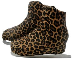 Leopard Cheetah Skate boot covers are a great gift, they protect skates and their resell value, while looking adorable at the same time. Boot Covers can be used during practice ice, but also can be worn in your next artistic program, especially if there is a cat or jungle theme. They're going to hear you roar!