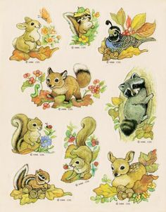 Hallmark woodland animal stickers