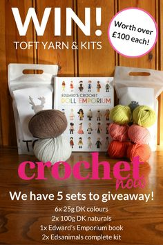 Win a yarn kit and book bundle worth over £100 from @TOFT_uk with @crochetnowmag
