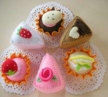 Cupcakes em feltro passo a passo, moldes