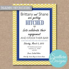 stock the bar engagement party ideas | Stock the Bar Engagement Party Invites | Wedding Ideas