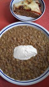 This no all / Disznóól - KonyhaMalacka disznóságai: Lencsefőzelék Oatmeal, Food And Drink, Low Carb, Cooking Recipes, Pudding, Vegetables, Breakfast, Desserts, Bors