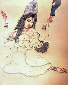 Picture created by Tanuj Biswas Indian Goddess Kali, Goddess Art, Durga Goddess, Indian Gods, Durga Maa, Mother Kali, Mother Goddess, Kali Hindu, Hindu Art