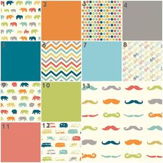 Fun Times Organic (baby Bedding Crib Set, Bears, Mustache, Campers)