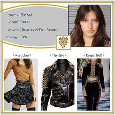 """Descendants OCs on Instagram: """"Emma ✧ Daughter of Belle •••••••••••••••••••••••••••••••••••••••••••••• Feel free to use this character however you like - just please tell…"""" Belle Movie, Disney Descendants, Disney Outfits, Beauty And The Beast, Daughter, Nova, Aesthetics, Fashion Design, Free"""