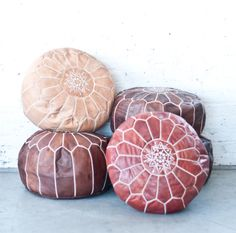 Pouf the Magic Ottoman Moroccan Cushions, Moroccan Pouf, Palm Tree Flowers, Big Comfy Chair, Brown Leather Chairs, Pouf Chair, Toddler Table And Chairs, Oriental, Desk And Chair Set