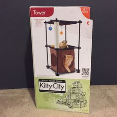 Kitty City Tower Cat House Condo Furniture Scratching Post Scratcher Toy Pet…