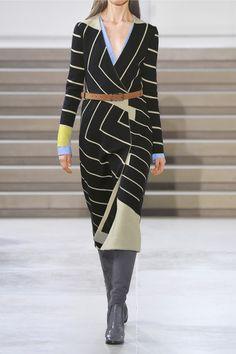 Jil Sander | Striped wrap-effect stretch-knit dress | NET-A-PORTER.COM