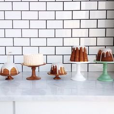 cake stands.