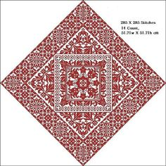 Cross stitch digital pdf pattern - Kazari- Decorations large square ONLY PATTERN Design consists of elements of schemes from old magazines. Design stitched on fabric of your choice with any one color of floss Stitches used: X-stitch Stitched area: 309w X 309h Stitches Size: 14