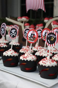 Pirate Cupcake Toppers by JesParkerEvents on Etsy, $8.00