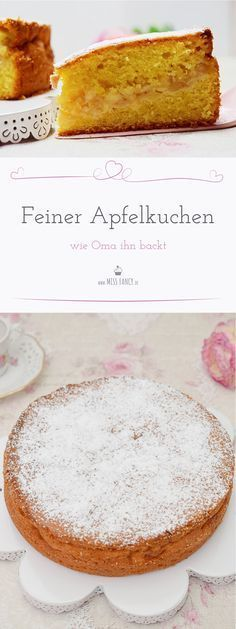 Leckerer Apfelkuchen so wie Oma ihn gebacken hat. #apfelkuchen #kuchen #cake