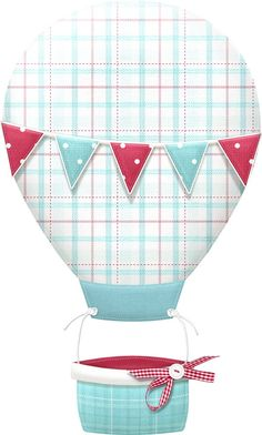 Up Up & Away (Nitwit Collections) Diy Craft Projects, Crafts For Kids, Shabby Chic Theme, Winter Kids, Christmas Clipart, Decoupage Paper, Hot Air Balloon, Paper Piecing, Paper Crafts