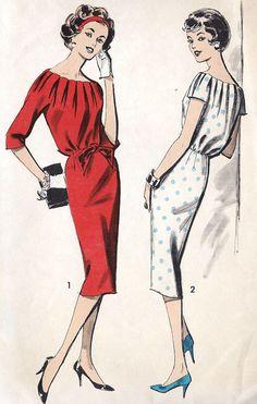 1960s Gentle Blouson Dress