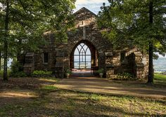 A beautiful spot for contemplation ~ Chapel of the Transfiguration at Camp Mitchell on Petit Jean Mountain #Arkansas