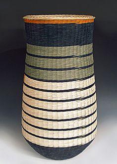 Tall Sage & Adobe basket by Kari Lonning Rattan Basket, Baskets, Sage, Adobe, Home Decor, Decorative Objects, Decoration Home, Salvia, Room Decor