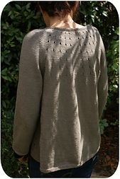 Ravelry: Vitamin D pattern by Heidi Kirrmaier -  knit top down. Saw this at Spring Assembly. Beautiful stitched up!