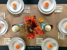 Creating An Inexpensive Thanksgiving Table: Table design ByDawnNicole.com