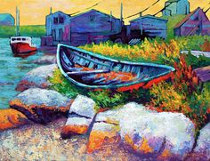 """""""East Coast Boat Painting"""" - by Marion Rose"""