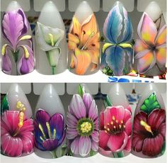 Beautiful hand-painted flowers! ;)