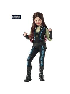 Girl's Guardian of the Galaxy Deluxe Gamora Costume! See more #costume ideas for Halloween and more at CostumeSuperCenter.com