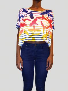 Print Crop Top Crop Tops, Shopping, Cropped Tops, Crop Top Outfits