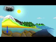The Water Cycle Wk Vattnets kretslopp Science Videos, Science Resources, Science Lessons, Science Activities, Science Projects, Life Science, Weather Activities, Science Experiments, Kindergarten Science