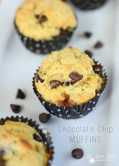 Delicious ooey gooey chocolate chip muffins... perfect for the brunch table or an afternoon snack.
