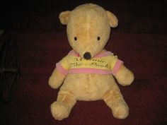 """Vintage """"Winnie the Pooh"""", made by Gund, licensed to Disney in 1964.  Selling Antique Teddy Bears From Around The Globe (AntiqueTeddyBearCrossing.com) / 'WINNIE THE POOH' VINTAGE BEAR"""