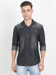 Checkout this latest Shirts Product Name: *Carbonn Blue Men Solid  Double Pocket Denim Shirt* Fabric: Denim Sleeve Length: Long Sleeves Pattern: Dyed/ Washed Multipack: 1 Sizes: S Country of Origin: India Easy Returns Available In Case Of Any Issue   Catalog Rating: ★4 (384)  Catalog Name: Comfy Partywear Men Shirts CatalogID_2017195 C70-SC1206 Code: 535-10913416-5271