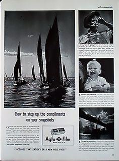 1941 Agfa Ansco Plenachrome Film Magazine Advert