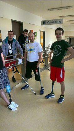 Герои #АТО заканчивают курс реабилитации в немецкой клинике.