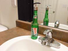 Mountain Dew Soap Dispenser Soap Pump Lotion by SchulersGlassDecor, $15.00