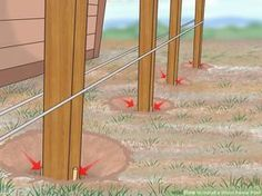 Image titled Install a Wood Fence Post Step 14 More Best Picture For how to build a fence gate For Y Wood Fence Post, Farm Fence, Diy Fence, Wood Post, Wooden Fence, Fence Ideas, Wood Fence Gates, Yard Fencing, Privacy Fences