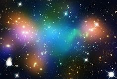Abell 520 is the site where two massive clusters of galaxies - containing 100s or 1000s of galaxies *each* - are colliding. As cool as that is, what the heck is going on with the dark matter? It's a puzzle astronomers don't have an answer for just yet. Click for more. Image credit: NASA, ESA, CFHT, CXO, M.J. Jee (University of California, Davis), and A. Mahdavi (San Francisco State University)