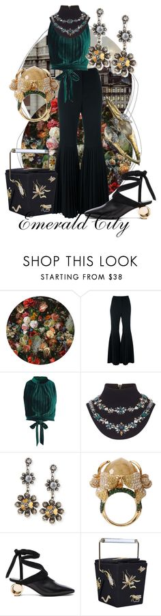 """Follow the Yellow Brick"" by raecycle ❤ liked on Polyvore featuring Moooi, STELLA McCARTNEY, River Island, Mary Katrantzou, Bottega Veneta, Wendy Yue, J.W. Anderson, Charlotte Olympia, Alexis Bittar and Random"