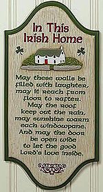 In this Irish Home-Photo credit from Irish Culture and Customs website  --Photo Credit: Celtic Shamroc