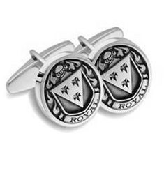 Select Gifts Coffey Ireland Heraldry Crest Sterling Silver Cufflinks Engraved Message Box
