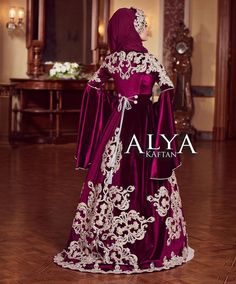 Wedding Dress Trends, Wedding Gowns, Kaftan Abaya, Moroccan Caftan, Muslim Fashion, Bride, Formal Dresses, How To Wear, Weeding