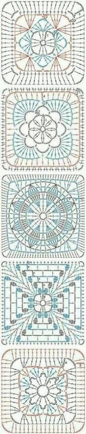 Resultado de imagem para pinterest crochet squares