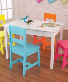 Take a look at this Highlighter Table & Chair Set by KidKraft on #zulily today!