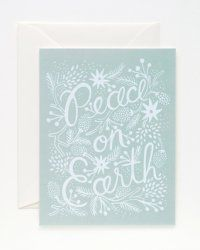 Rifle Paper Co. Winter 'Peace on Earth' Christmas Card - Set of Eight Christmas Trends, Retro Christmas, Christmas Design, Christmas Holidays, Christmas Cards, Happy Holidays, Christmas Postcards, Christmas Print, Christmas Bells