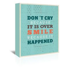 Americanflat Maria Hernandez Cry Smile Textual Art on Wrapped Canvas Size: