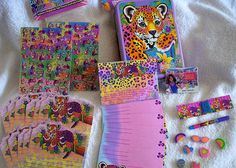 LISA FRANK vintage collectors tin with bonus stationery, sticker, and stamp kit plus more