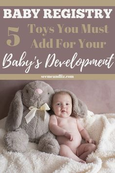 Baby registry must haves typically include supplies needed for the first year. But did you know that there are 5 important developmental baby toys you should also add? Find out why they are important to your little one's development Best Baby Shower Gifts, Baby Gifts, Help Getting Pregnant, Baby Registry List, 5 Month Old Baby, Gentle Parenting, Parenting Tips, Baby Play, Baby Toys