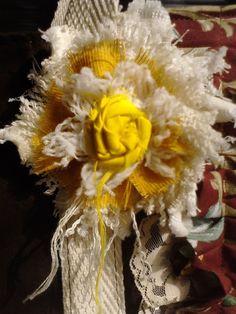 Flor con texturas variadas