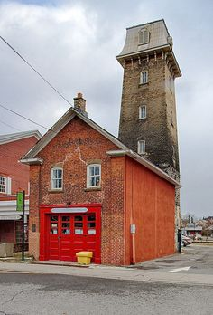 The Old Perth Firehouse Fire Hall, Perth, Ontario, Photo Galleries, Beautiful Places, Old Things, Cabin, Street, House Styles