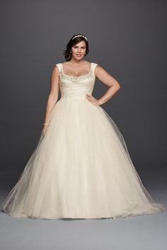 Wedding Dresses with Beading Work - 19 Plus Size Wedding Dresses-For Our Curvy Girls - EverAfterGuide